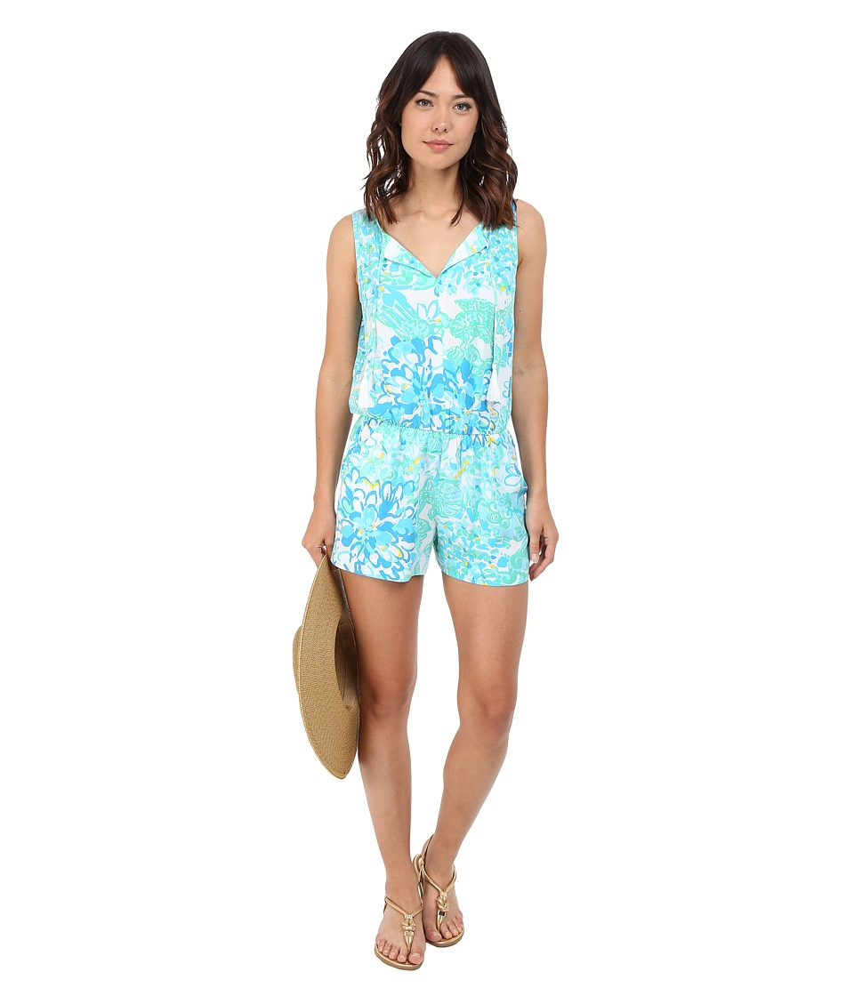 Lilly Pulitzer - Tybee Romper (Resort White In A Pinch) Women's Jumpsuit & Rompers One Piece
