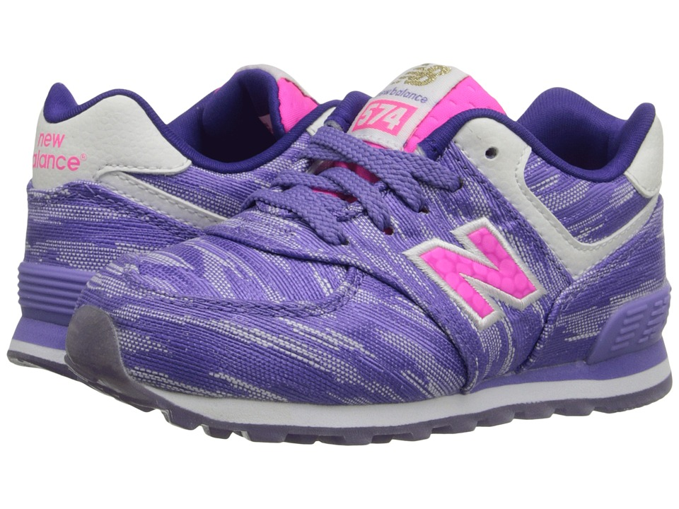 New Balance Kids - Summer Waves 574 (Infant/Toddler) (Purple/Purple) Girls Shoes