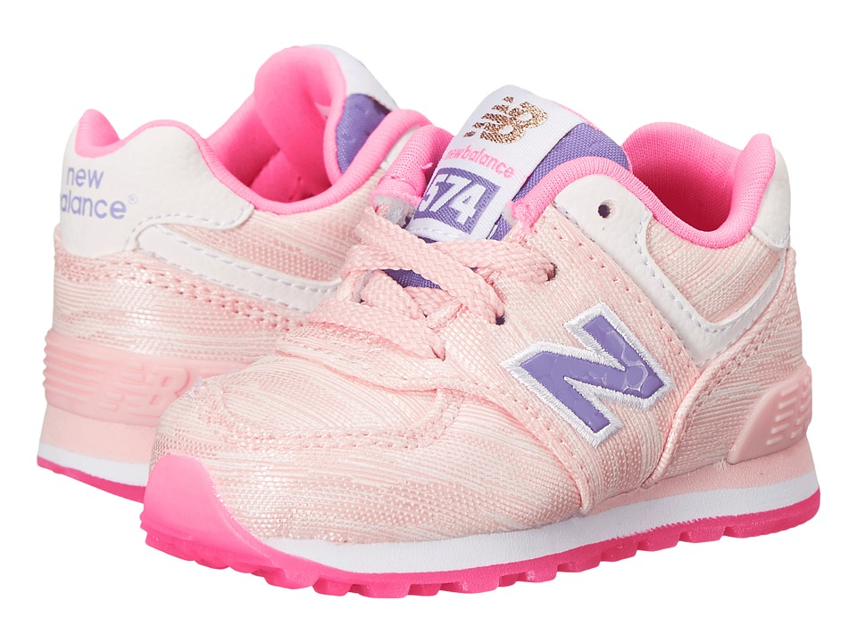 New Balance Kids - Summer Waves 574 (Infant/Toddler) (Pink/Pink) Girls Shoes
