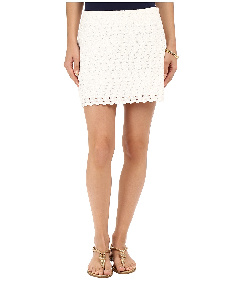 Lilly Pulitzer - Tate Skirt (Resort White Current Eyelet) Women's Skirt