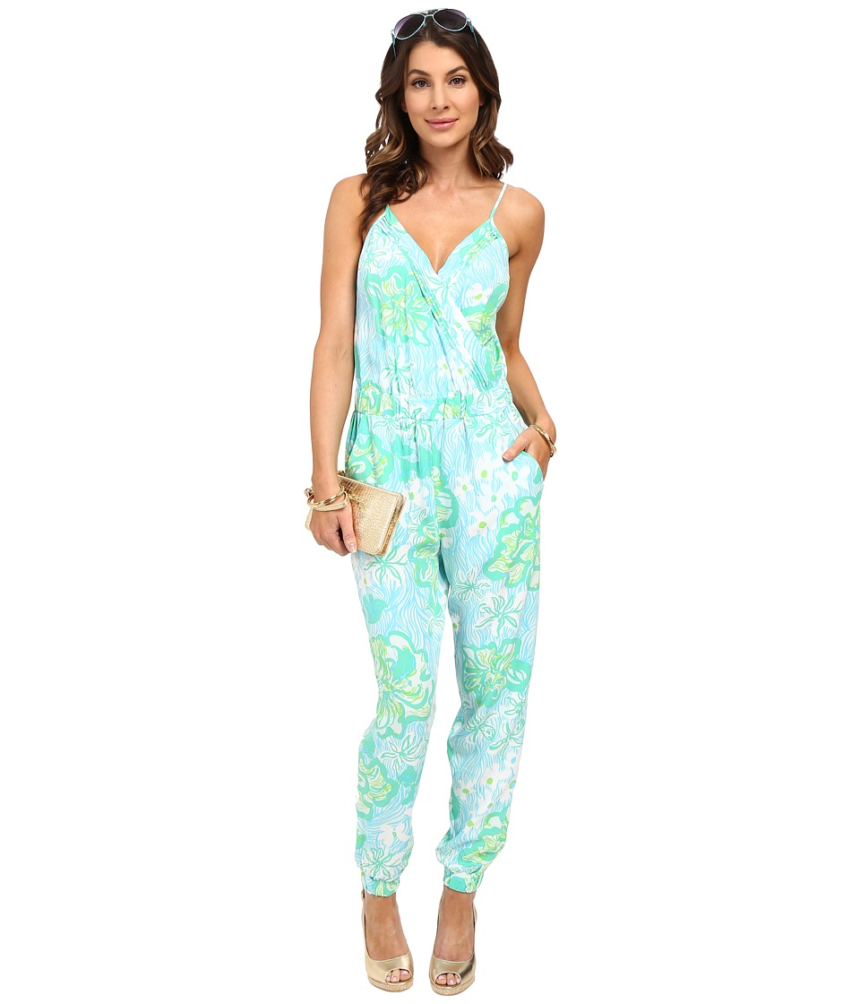 Lilly Pulitzer - Melba Jumpsuit (Lagoon Green Wave Rider) Women's Jumpsuit & Rompers One Piece