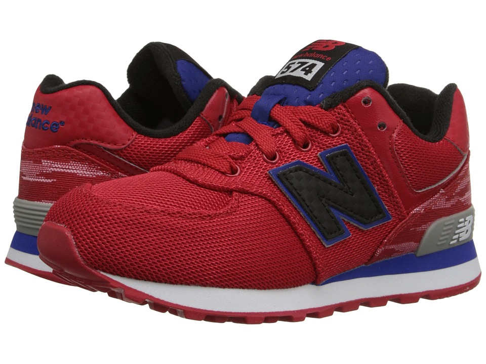 New Balance Kids - Summer Waves 574 (Little Kid) (Red/Blue) Boys Shoes
