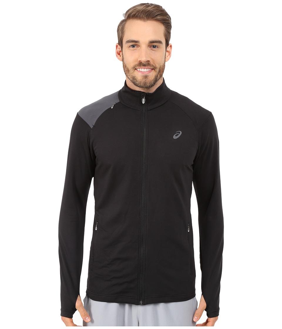 ASICS - Thermopolis Full Zip Jacket (Perforated Black/Dark Grey) Men's Coat