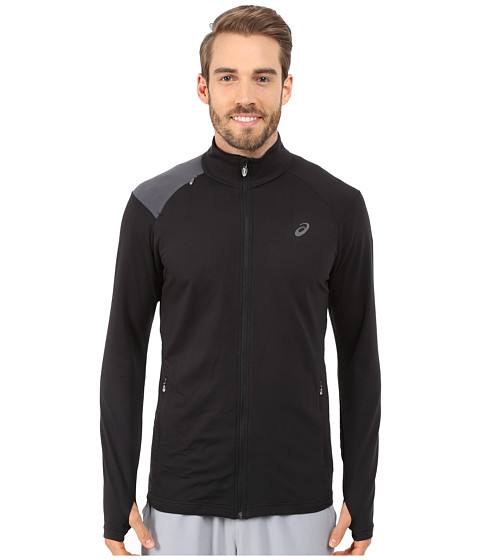 ASICS - Thermopolis Full Zip Jacket (Perforated Black/Dark Grey) Men
