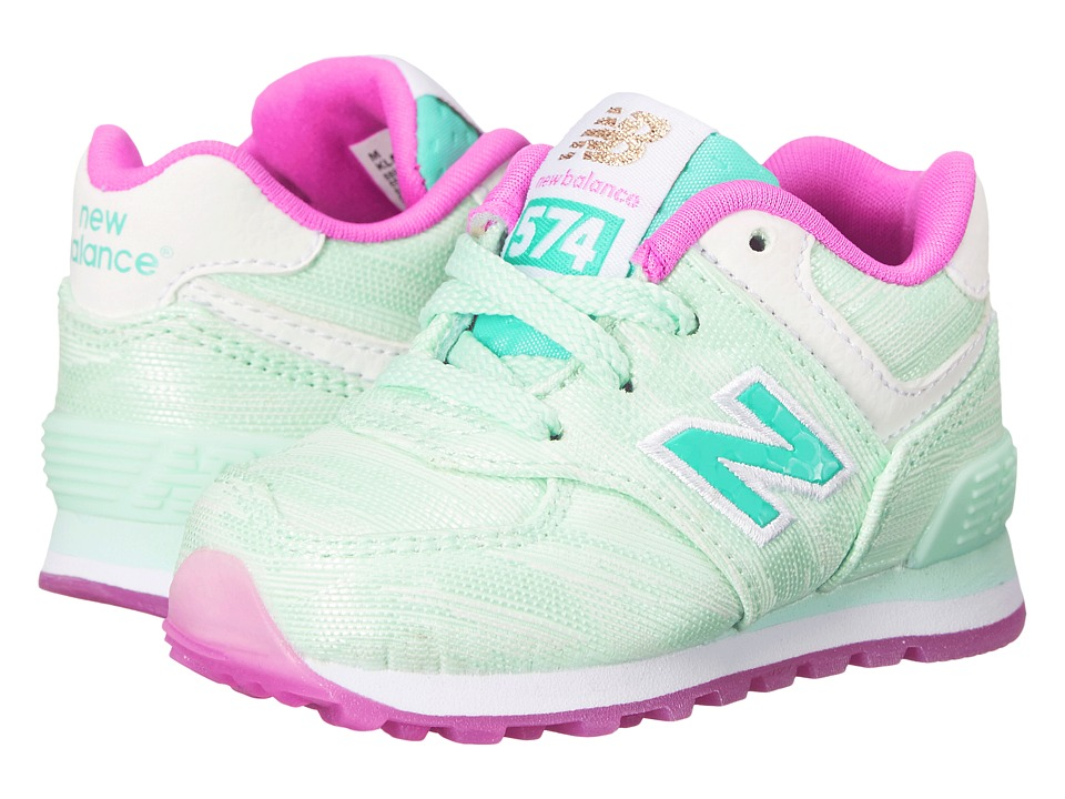 New Balance Kids - Summer Waves 574 (Infant/Toddler) (Teal/Teal) Girls Shoes