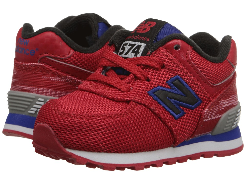 New Balance Kids - Summer Waves 574 (Infant/Toddler) (Red/Blue) Boys Shoes
