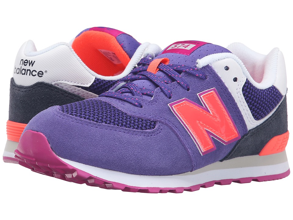 New Balance Kids - Summer Utility 574 (Big Kid) (Purple/Black) Girls Shoes