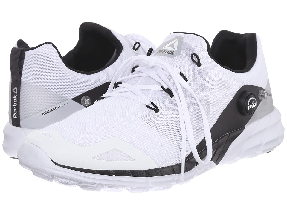 Reebok - ZPump Fusion 2.0 ELE (White/Steel/Silver Metallic/Coal/Tin Grey) Men's Shoes