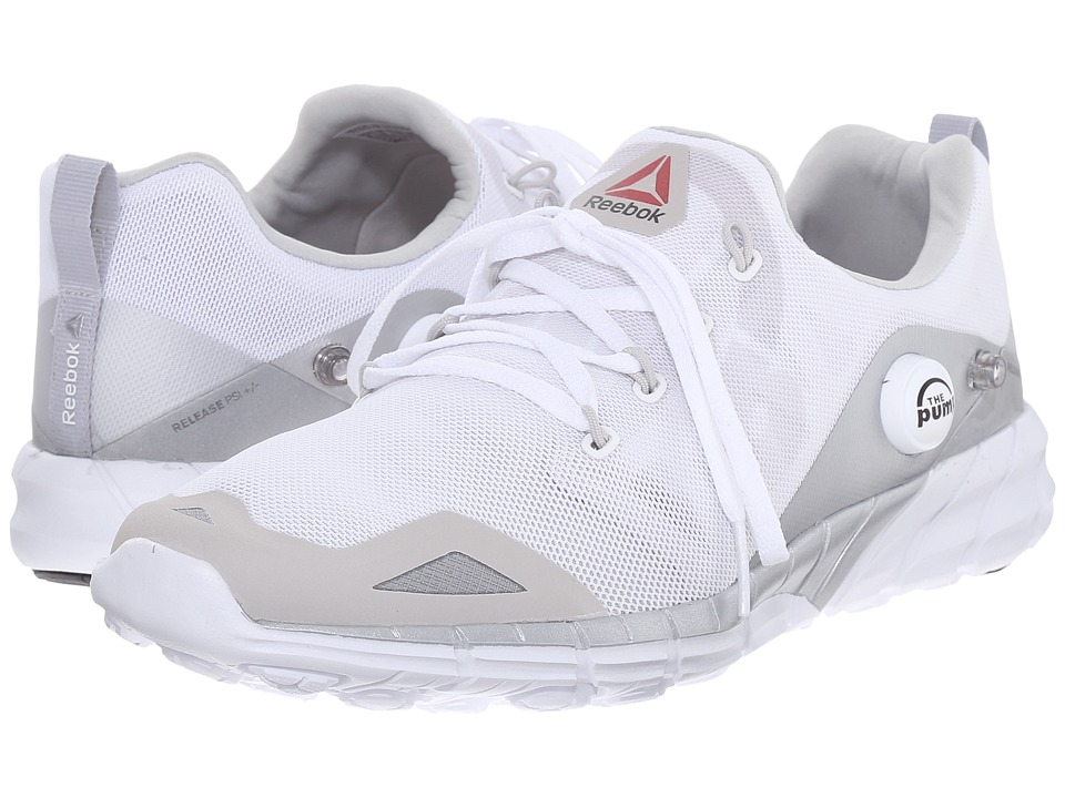 Reebok - ZPump Fusion 2.0 ELE (White/Steel/Silver Metallic/Tin Grey) Women's Shoes