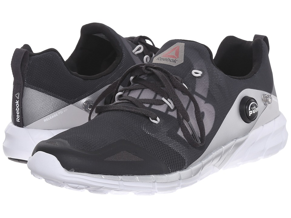 Reebok - ZPump Fusion 2.0 ELE (Coal/Steel/Silver Metallic/White/Black) Women's Shoes
