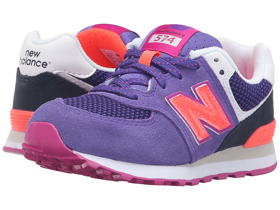 New Balance Kids - Summer Utility 574 (Little Kid) (Purple/Black) Girls Shoes