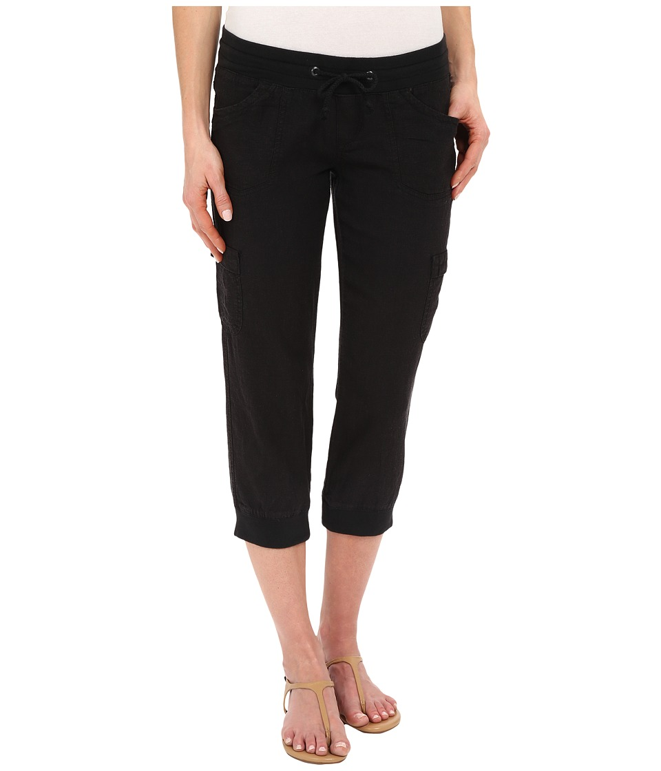 UNIONBAY - Marianna Linen Rayon Crop Pants (Black) Women's Casual Pants