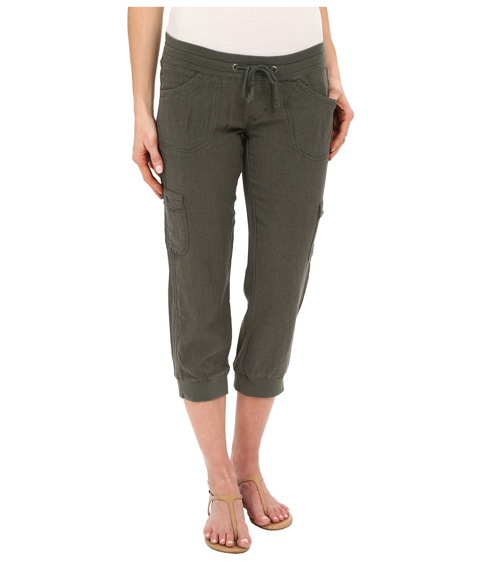 UNIONBAY - Marianna Linen Rayon Crop Pants (Fatigue Green) Women's Casual Pants