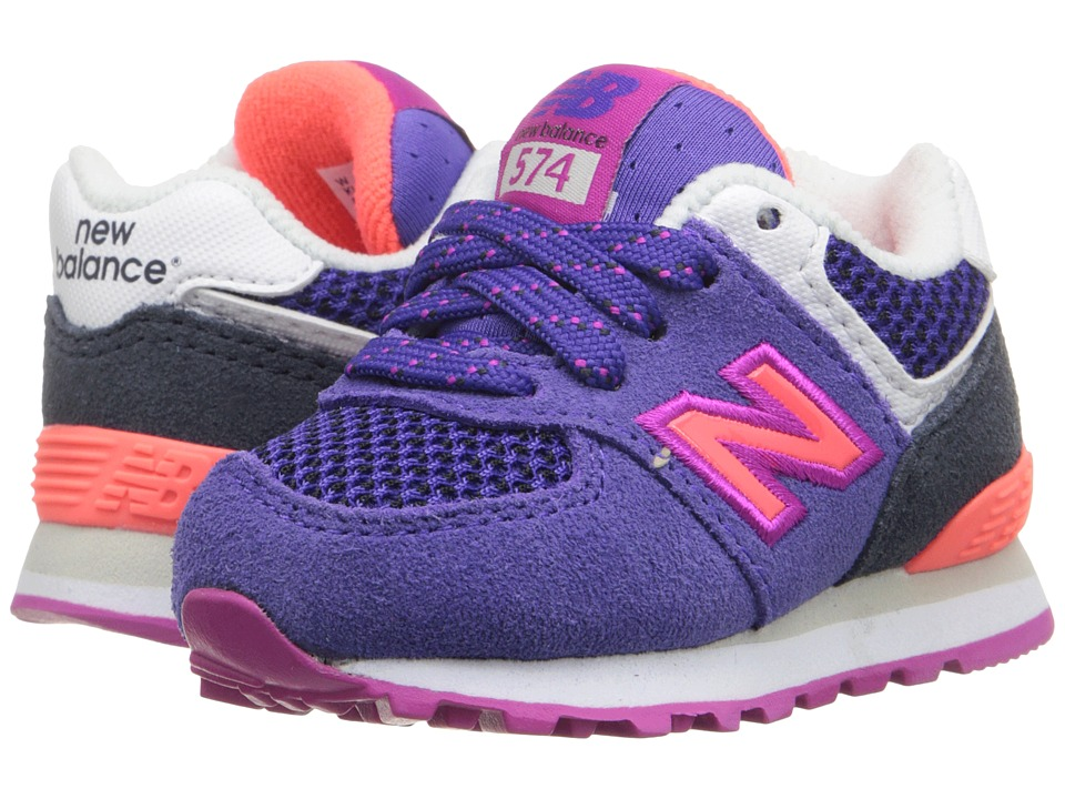 New Balance Kids - Summer Utility 574 (Infant/Toddler) (Purple/Black) Girls Shoes
