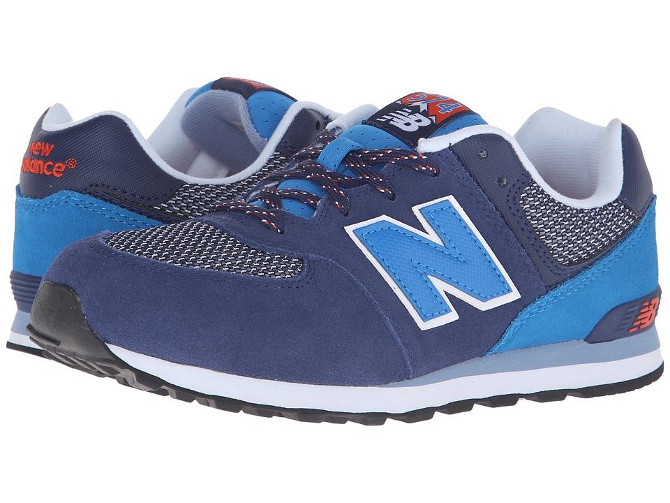 New Balance Kids - Summit 574 (Big Kid) (Blue/Blue) Boys Shoes