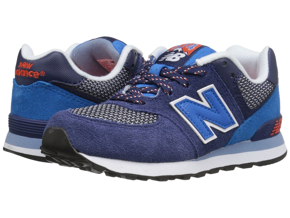 New Balance Kids - Summit 574 (Little Kid) (Blue/Blue) Boys Shoes