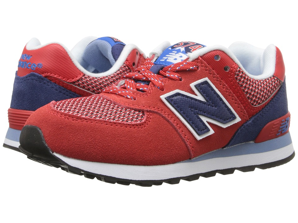 New Balance Kids - Summit 574 (Little Kid) (Red/Blue) Boys Shoes