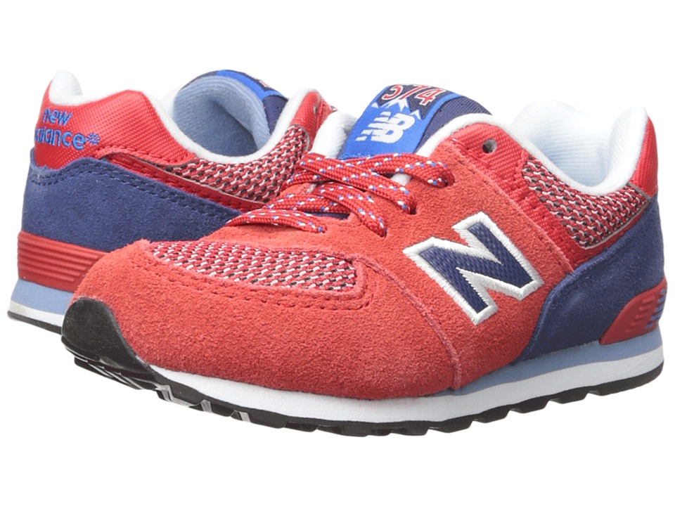 New Balance Kids Summit 574 (Infant/Toddler) (Red/Blue) Boys Shoes