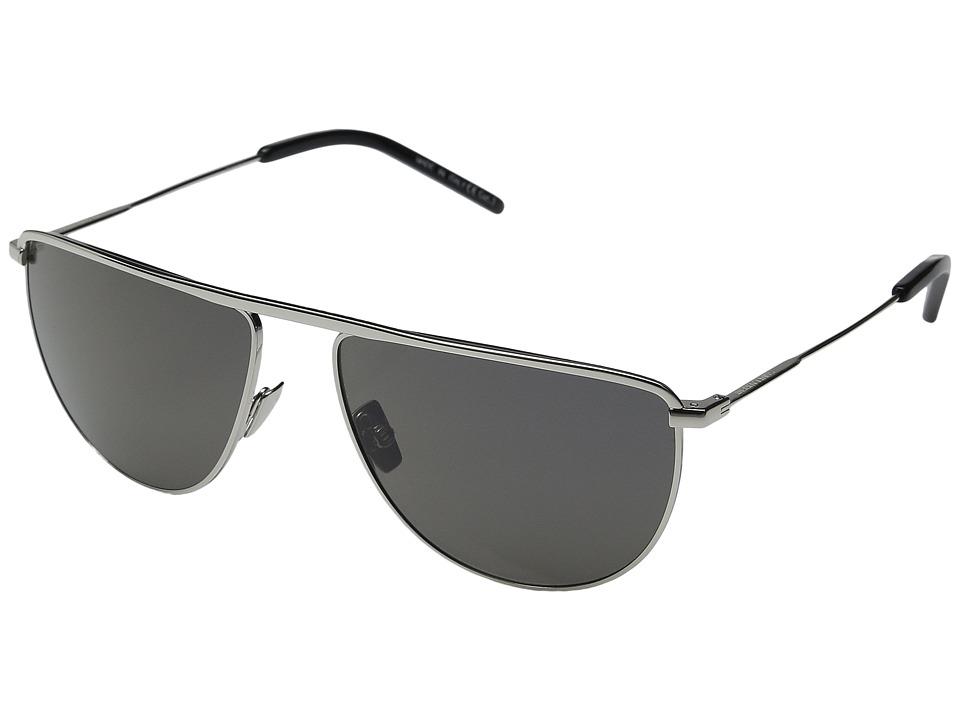 Saint Laurent - SL 96 (Silver/Smoke Barberini Mineral Lens) Fashion Sunglasses