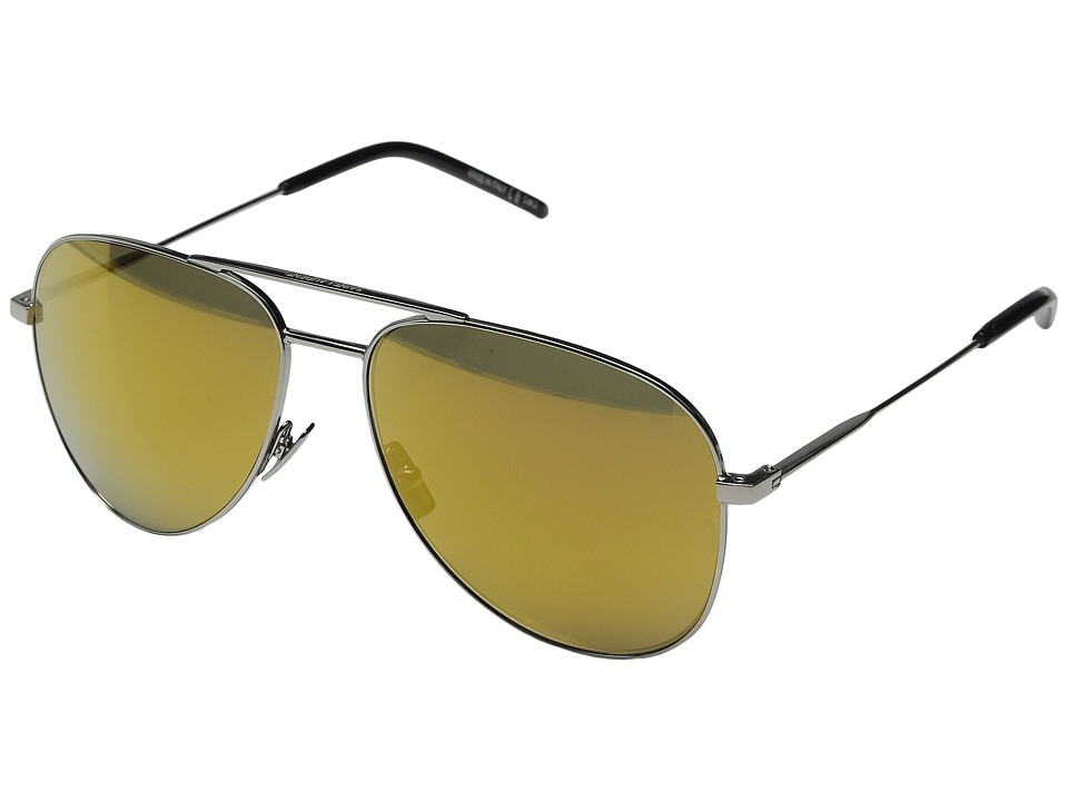 Saint Laurent - Classic 11 (Silver/Gold Mirror) Fashion Sunglasses