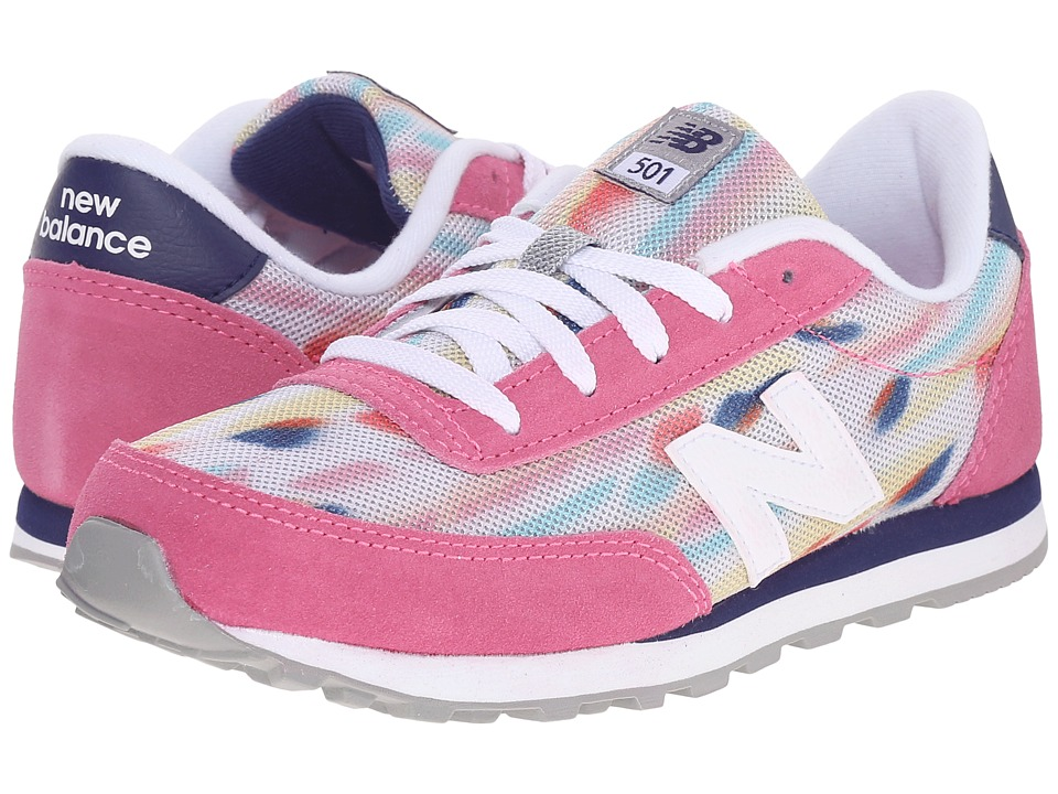New Balance Kids - State Fair 501 (Little Kid/Big Kid) (Pink/Blue) Girls Shoes