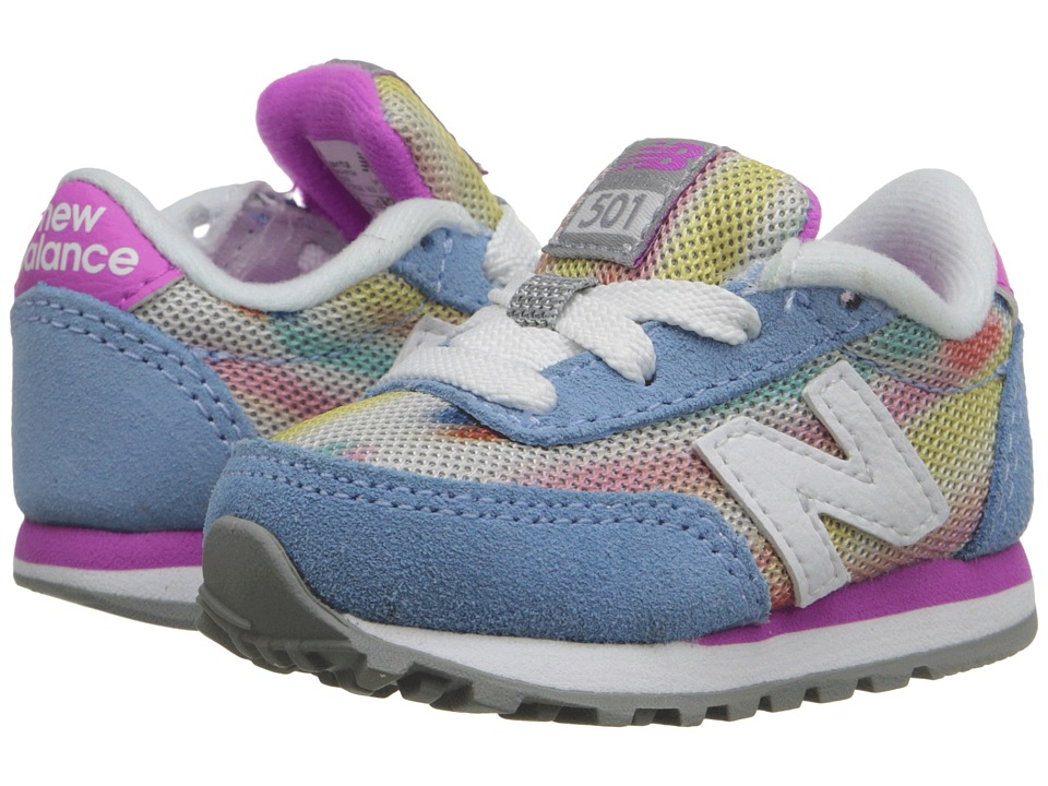 New Balance Kids - State Fair 501 (Infant/Toddler) (Blue/Purple) Girls Shoes