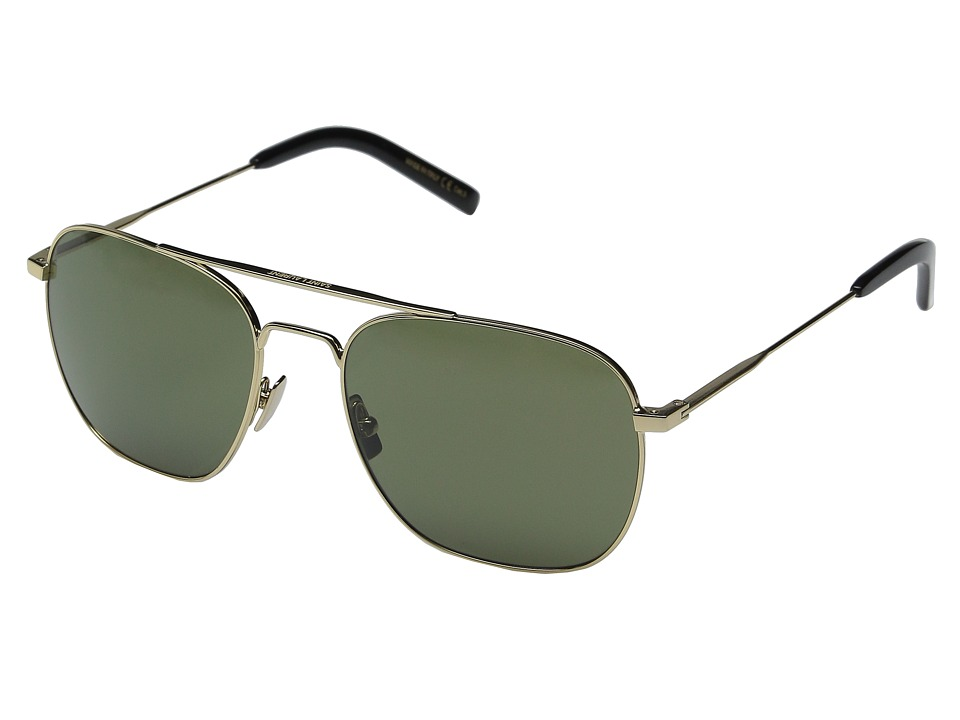 Saint Laurent - SL 86 (Endura Gold/Green Barberini Mineral Lens) Fashion Sunglasses