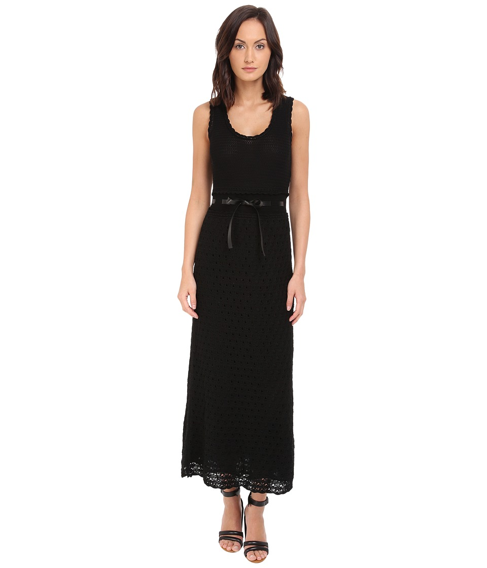 RED VALENTINO - Abito Maglia Dress (Nero) Women's Dress