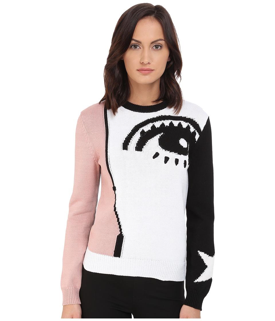 RED VALENTINO - Maglia Sweater (Bianco/Nero/Nudo) Women's Sweater