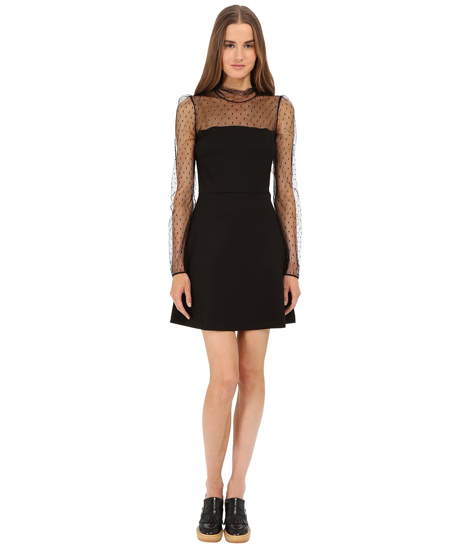 RED VALENTINO - Abito Jersey Dress (Nero) Women's Dress