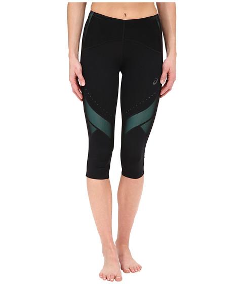 ASICS - Leg Balance Knee Tights (Perforated Black/Aqua Mint) Women's Workout