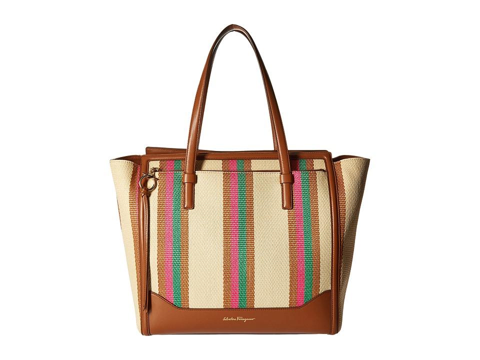 Salvatore Ferragamo - 21F739 Amy (Anemone/Amazzonia) Tote Handbags