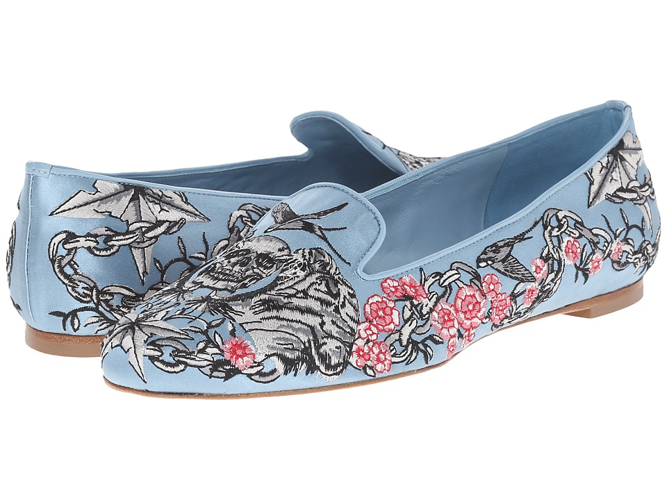Alexander McQueen - Scarpa Tessuto S.Cuoio (Turquoise) Women's Slip on Shoes