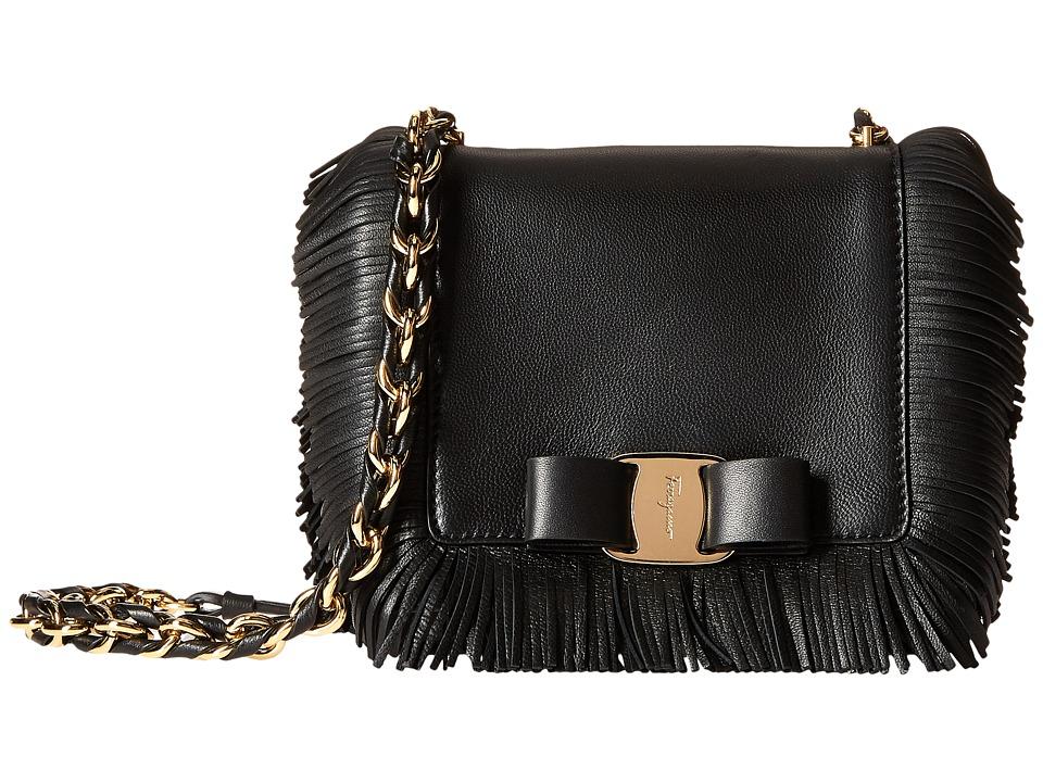 Salvatore Ferragamo - 21F838 Ginny (Nero) Cross Body Handbags