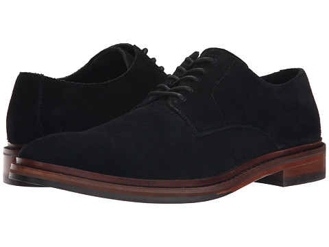 Cole Haan - Williams Buck II (Black Suede) Men's Lace Up Wing Tip Shoes