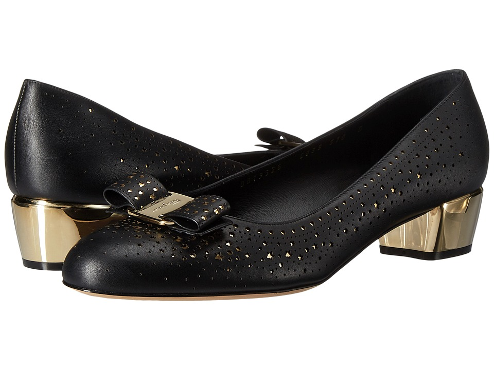 Salvatore Ferragamo - Vara Twinkle (Oro Calf) Women's 1-2 inch heel Shoes