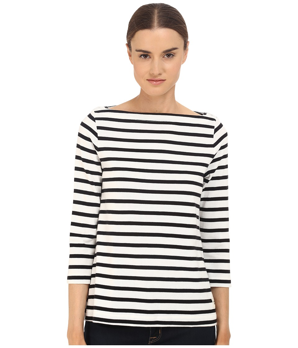 Kate Spade New York - 3/4 Sleeve Sailor Tee (Black) Women's T Shirt