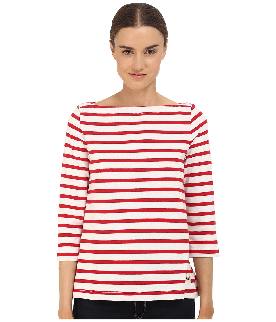 Kate Spade New York - 3/4 Sleeve Sailor Tee (Posy Red) Women's T Shirt