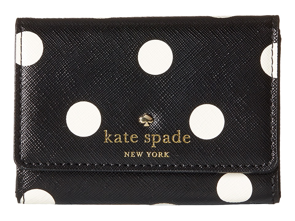 Kate Spade New York - Cedar Street Dot Darla (Black/Clotted Cream) Wallet