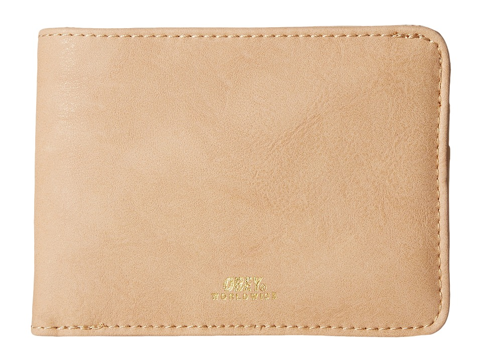 Obey - Gentry Bi-Fold Wallet (Tan) Wallet Handbags