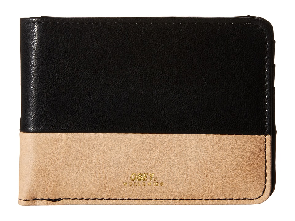 Obey - Gentry Deuce Bi-Fold Wallet (Black/Tan) Wallet