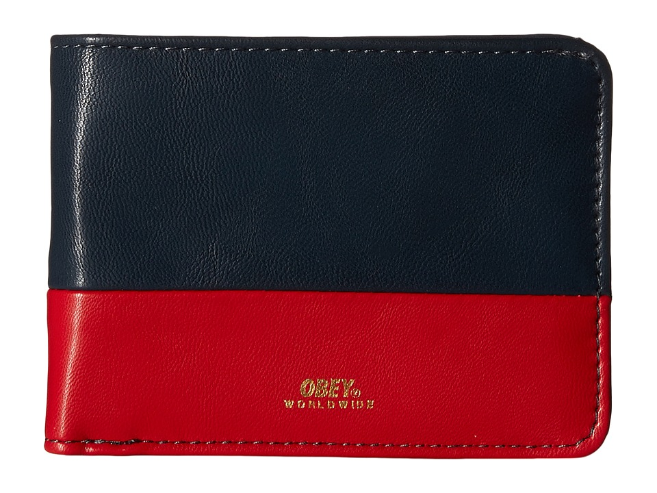 Obey - Gentry Deuce Bi-Fold Wallet (Navy/Red) Wallet