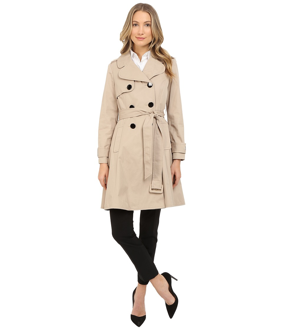 Kate Spade New York - Classic Twill Trench Coat (French Beige) Women's Coat