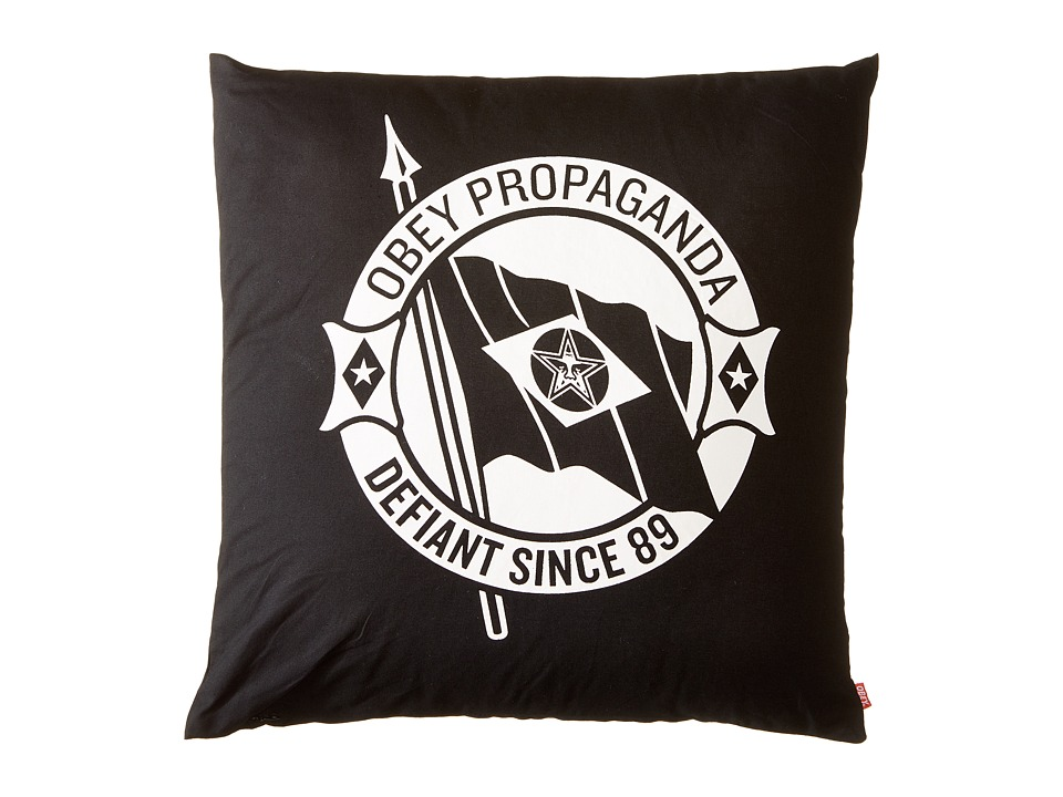 Obey - Defiant Pillow (Black) Sheets Bedding