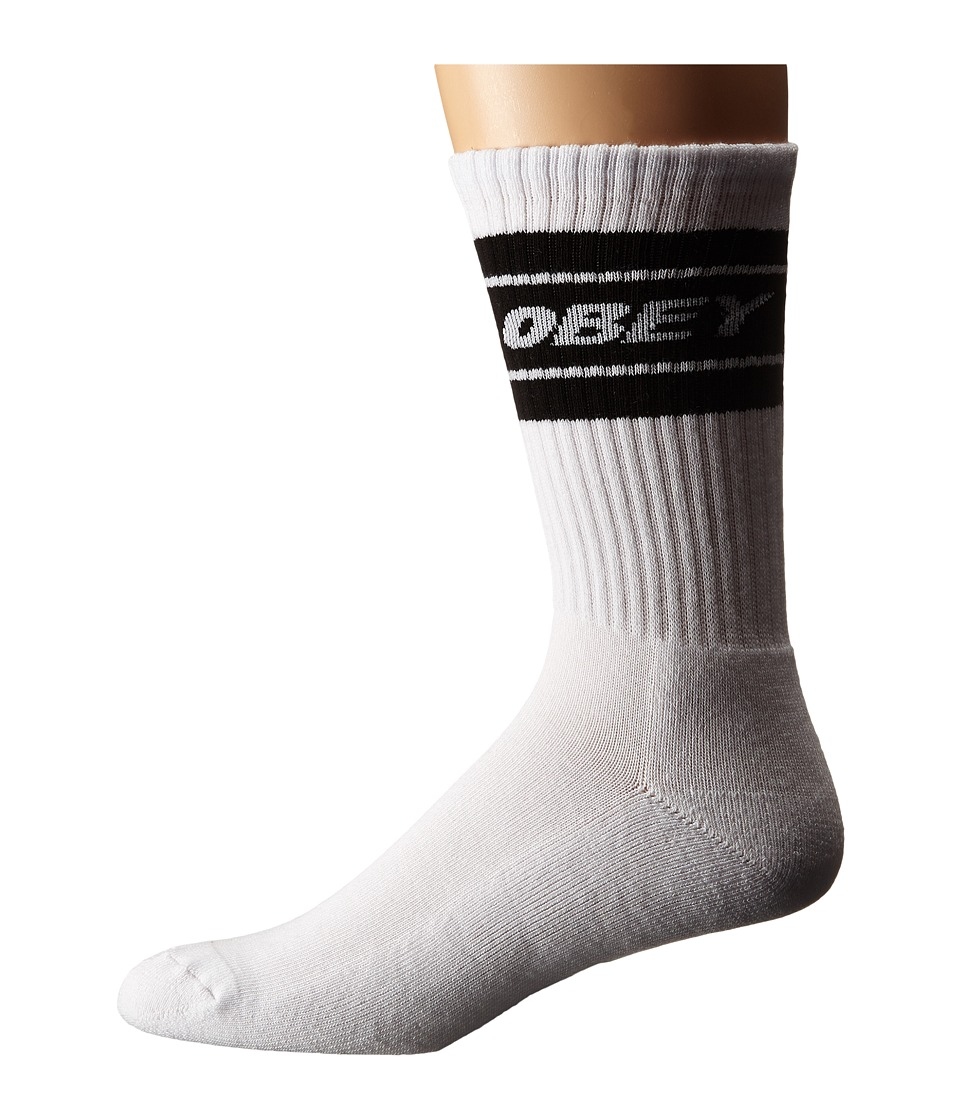 Obey - Cooper Socks (White/Black) Men's Crew Cut Socks Shoes