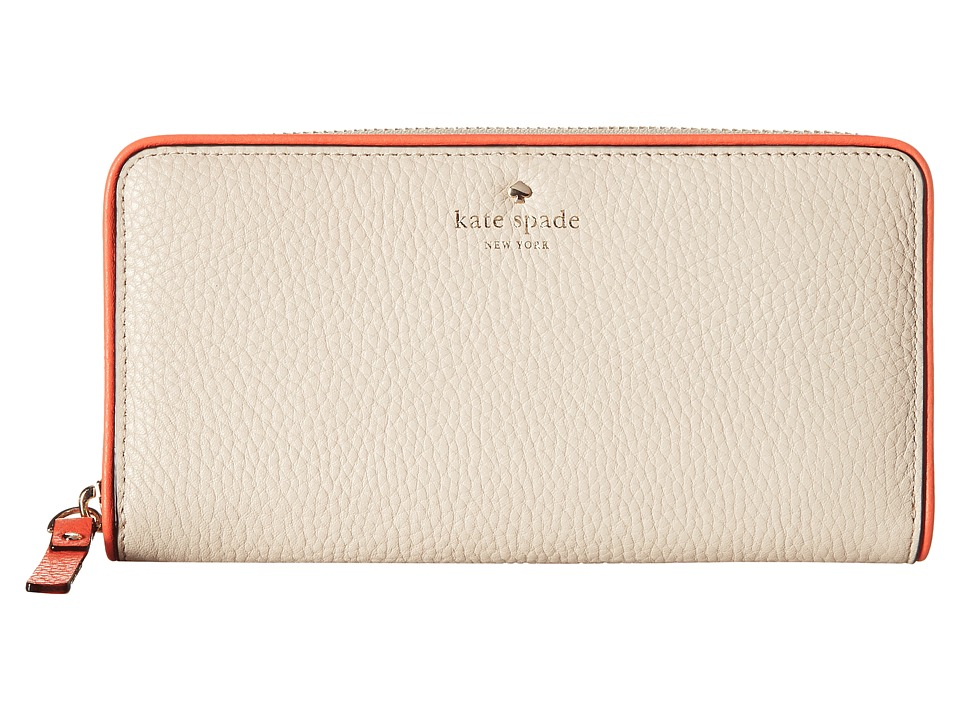 Kate Spade New York - Cobble Hill Lacey (Porcelain/Bright Papaya) Wallet Handbags