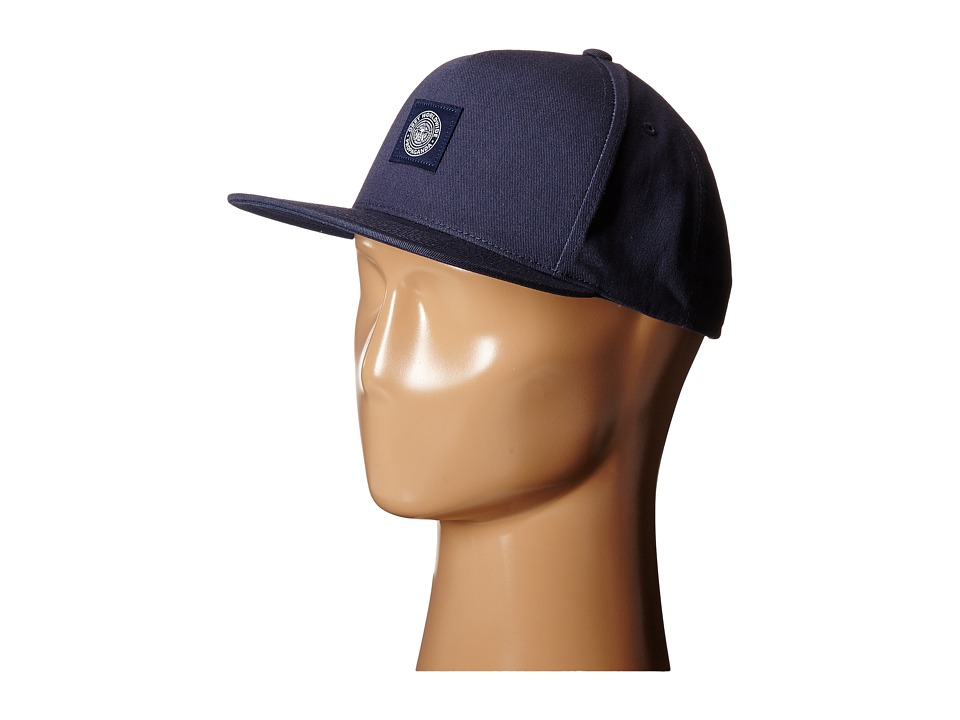 Obey - Downtown Snapback Hat (Navy) Baseball Caps