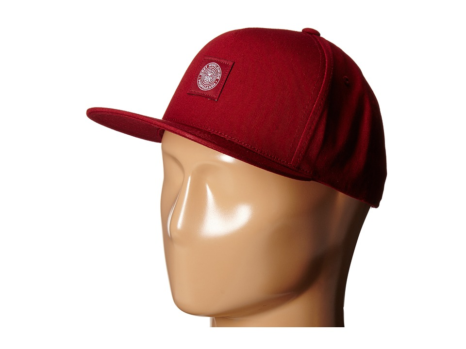 Obey - Downtown Snapback Hat (Wine) Baseball Caps