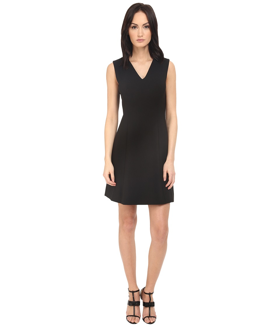 Kate Spade New York - Crepe A-Line Dress (Black) Women's Dress