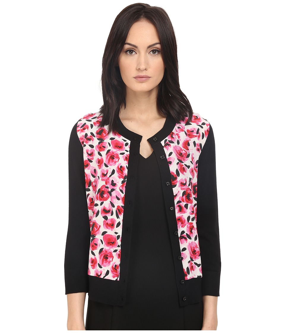 Kate Spade New York - Mini Rose Cardigan (Black) Women's Sweater
